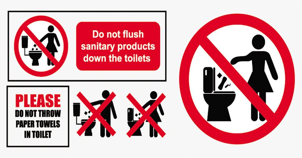 Conheça alguns avisos para banheiro que podem evitar entupimento!